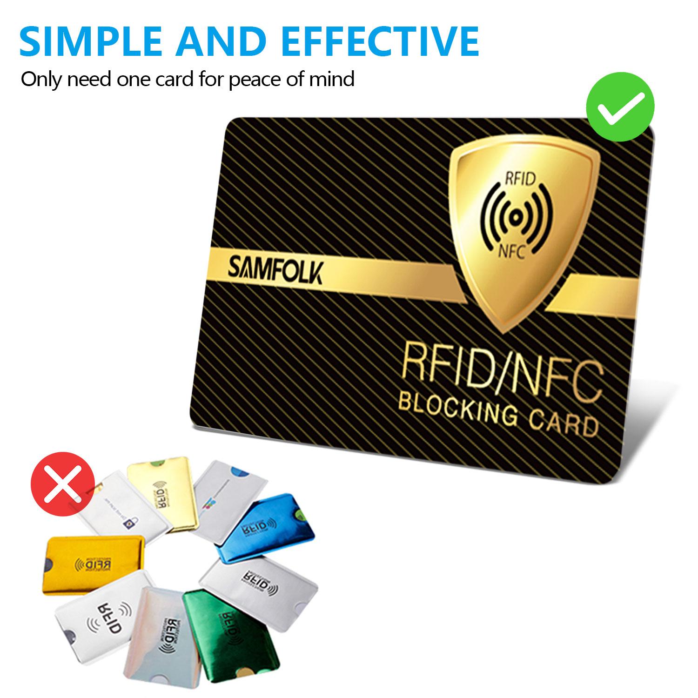 33798d25999e Samfolk | RFID/NFC Blocking Card 2 Pack, SAMFOLK Contactless Card ...